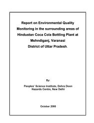 Report on Environmental Quality Monitoring in the surrounding ...