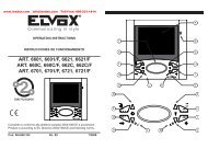ELVOX 6601 Video Intercom Operating Instructions Guide