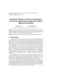 A Similarity Measure for Interval-valued Fuzzy Sets and Its ... - APORC