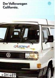 Der Volkswagen California. (§) - Westfalia T25 / T3 / Vanagon Info Site