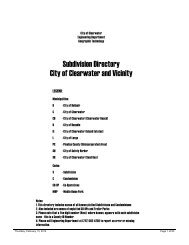 Subdivision Directory City of Clearwater and Vicinity - City Home