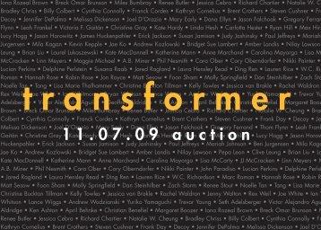 2009 Auction Invite - Transformer