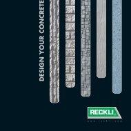 DESIGN YOUR CONCRETE - RECKLI GmbH: Home