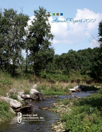 Annual Report 2012 - Ecology & Environment