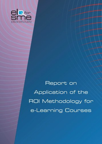 Report on Application of the ROI Methodology for e ... - Cecoa