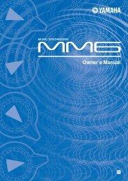 Yamaha MM6 Owners Manual - SoundProgramming