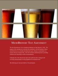 MICROBREWERY TEXT AMENDMENT