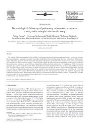 Bacteriological follow-up of pulmonary tuberculosis ... - ResearchGate