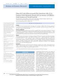 Phase III Trial of Bevacizumab Plus Interferon Alfa-2a in Patients ...