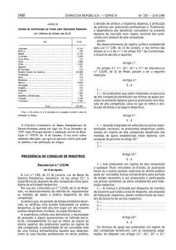 Decreto-Lei n.º 123/96