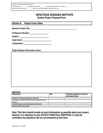 Project Proposal Pdf Student Project Proposal Form Pdf Infectious
