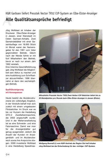 GP 2010 02: PRESSTEK VECTOR TX52 CTP-SYSTEM F+R - K&R