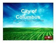 2013 LOCAL FOOD PROGRAM - City of Columbus