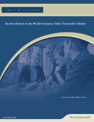 An introduction to the world enterprise video transcoders market