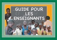 Guide des enseignants - Avsi