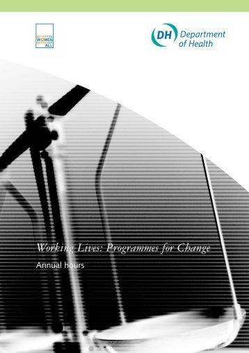 Working Lives: Programmes for Change - Royal Shrewsbury ...