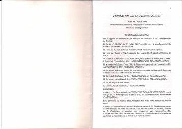 FONDATION DE LA FRANCE LIBRE
