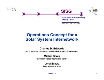 Operations Concept for a Solar System Internetwork