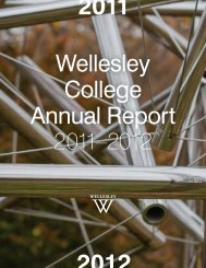 FY12 Annual Report - Wellesley College