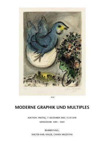 MODERNE GRAPHIK UND MULTIPLES - Koller Auktionen