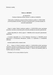 Ministerul Justitiei Ordin nr. 2561/2012 din 30/07/2012 Publicat in ...