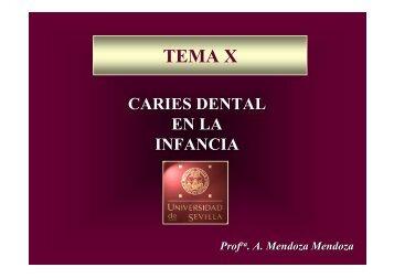 Tema 10 La Caries Dental en niños