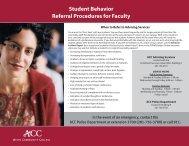 Student Behavior Referral Procedures for Faculty - Alvin Community ...