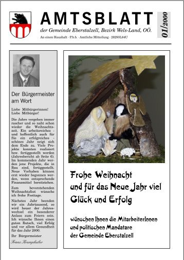 Amtsblatt Jänner 2000 (0 bytes) - Gemeinde Eberstalzell