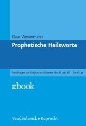 Prophetische Heilsworte im Alten Testament