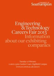 brochure - Electronics and Computer Science - University of ...