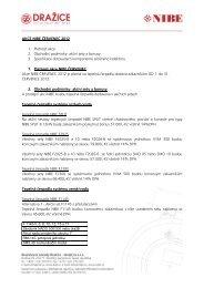 AKCE NIBE ČERVENEC 2012 1. Platnost akce 2. Obchodní ...