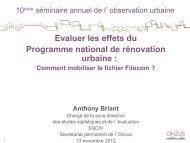 Evaluer les effets du Programme national de rénovation urbaine :