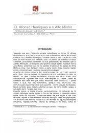 D. Afonso Henriques e o Alto Minho - Casa de Sarmento