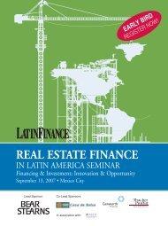 REAL ESTATE FINANCE - Euromoney Institutional Investor PLC