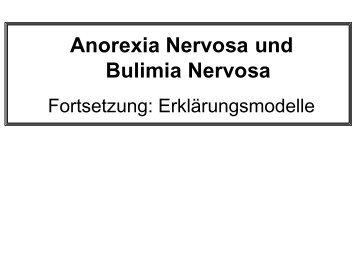 Anorexia Nervosa und Bulimia Nervosa