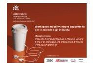 Workspace mobility: nuova opportunità per le ... - Guide Share Italia
