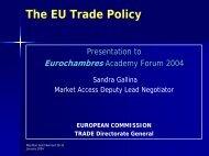 EU Trade Policy - Eurochambres Academy