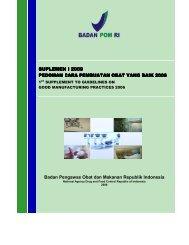 Badan Pengawas Obat dan Makanan Republik Indonesia ...