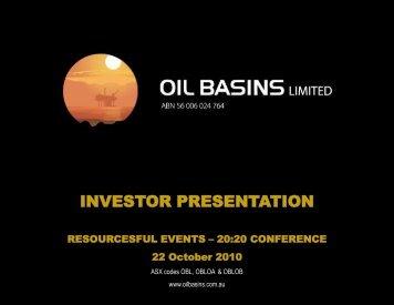 Investor Presentation - Oil Basins