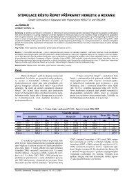 stimulace růstu řepky přípravky hergit® a rexan - Konference, Agro