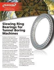 Slewing Ring Bearings for Tunnel Boring Machines - Kaydon Bearings