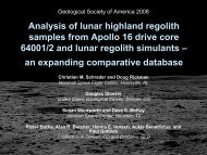 Analysis of lunar highland regolith samples from Apollo 16 drive ...
