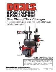 Coats APX80 Tire Changer - NY Tech Supply