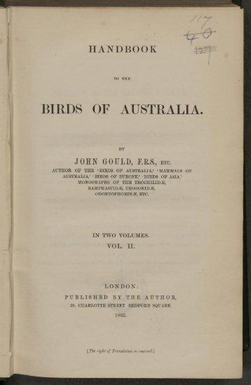 BIRDS OF AUSTRALIA... - Wallace Online