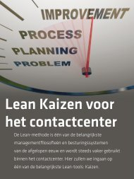 De Lean-methode wordt steeds vaker gebruikt in het contact center