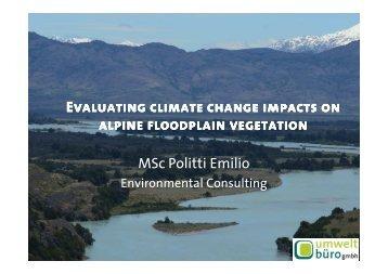 Evaluating climate change impacts on alpine floodplain vegetation ...