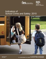Indicators of School Crime and Safety: 2010 - ED Pubs