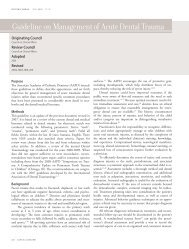 Guideline on Management of Acute Dental Trauma - sygdoms