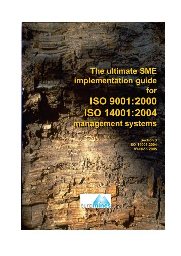 ISO 9001:2000 ISO 14001:2004 ISO 9001:2000 ISO ... - Euromines