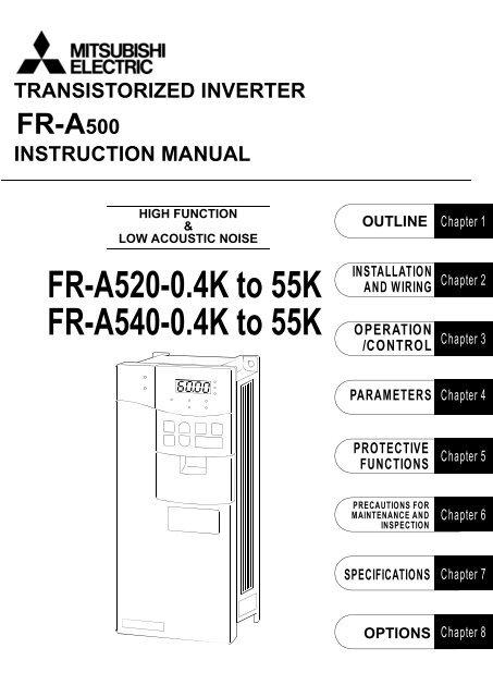 Dowload the Mitsubishi A500 VFD Manual - MRO Stop